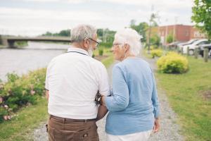 Older Couple Communicating