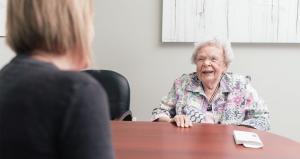 older woman conversation